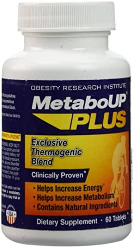 MetaboUP PLUS Thermogenic Weight Loss Dietary Supplement Tablets, 60 count