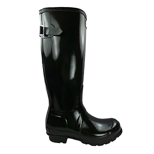 Hunter Original Back Adjustable Gloss Ladies Wellington Boots UK6 EU39 US8 Black