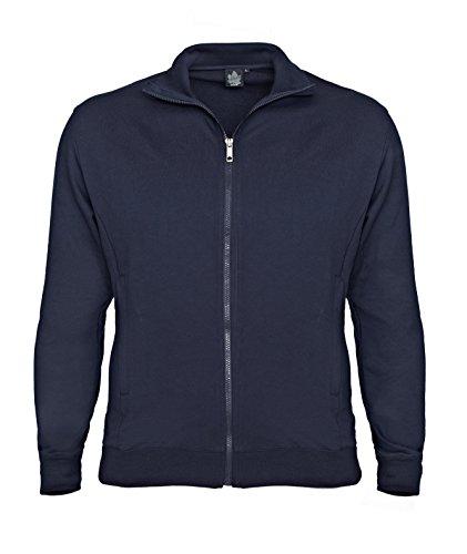 Dunkelblaue Zip-Jacke von Ahorn Sportswear in Übergrößen bis 10XL, Größe:4XL