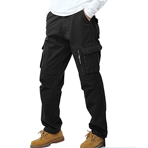 3954b137a39 Clothing NiuZi Mens Loose Fit Cotton Casual Military Army Cargo Camo Combat  Work Pants (36