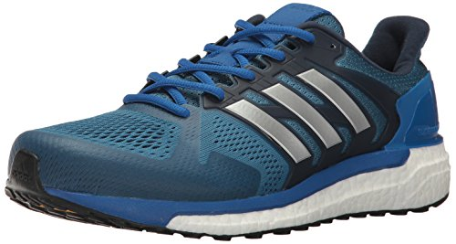 adidas Men's Supernova st m Running Shoe, Core Metallic Silver/Blue, 10.5 Medium US (Adidas Supernova Glide 6)