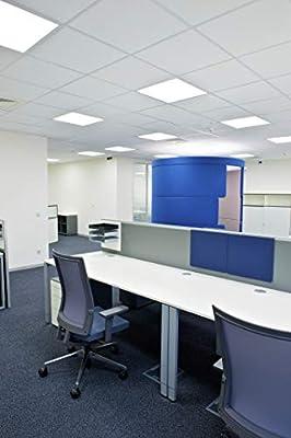 TCP 8 Pack 2x4 FT LED Flat Panel Light Fixture, 50W - 5000 Lumens, 5000K Daylight, 110V-277V, 0-10V Dimming