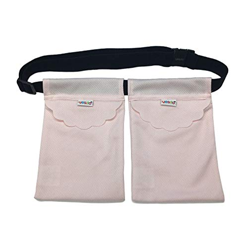 Yesito mastectomy drainage pouch and Shower Belt for Support Adjustable Comfort (Pink) (Light pink)