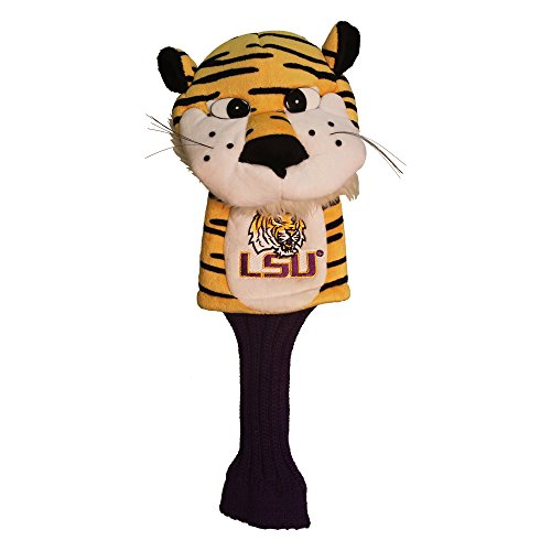 (Team Golf NCAA LSU Tigers Mascot Golf Club Headcover, Fits most Oversized Drivers, Extra Long Sock for Shaft Protection, Officially Licensed Product)