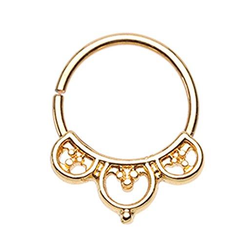 Inspiration Dezigns Bendable Twist Hoop Ring Aeval Celtic Goddess Septum/Daith 18G (Gold)