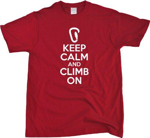 JTshirt.com-20076-Keep Calm and Climb On | Rock Climbing Humor Unisex T-shirt Funny Rock Climbing Shirt-B00D37JOEK-T Shirt Design