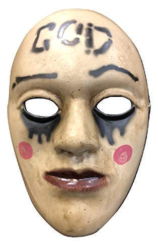 THE PURGE FIBREGLASS MASK ADULT CHILD COSPLAY ANARCHY 1 NEW MOVIE FANCY DRESS UP