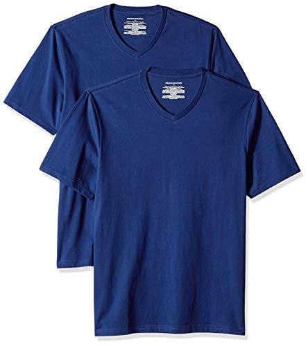 Blu V blue Bleu T neck Essentials pack Amazon 2 fit Regular shirt PqWXS4