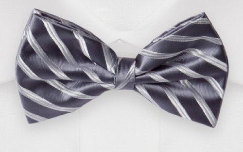Noeud papillon de Fabio Farini en gris blanche