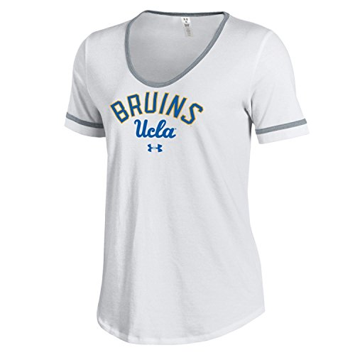 Under Armour NCAA UCLA Bruins Women's Short Sleeve Novelty Charged Cotton Tee, Large, White