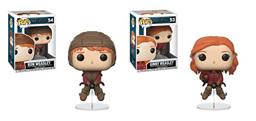 Funko POP Harry Potter: Quidditch Ron on Broom and Quidditch Ginny on Broom Toy Action Figure - 2 POP (Pop Bundle)