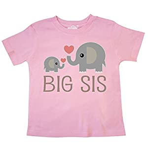 inktastic - Big Sis Elephant Toddler T-Shirt 1a7a5