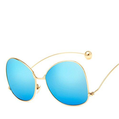 Chahua Haut brillant président rétro lunettes de soleil Lunettes de soleil Lunettes de soleil en métal de la personnalité de lOuest e