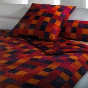Joop Mosaic Bed Set Redorange 135 X 200 Cm1x Pillowcase 80 X 80