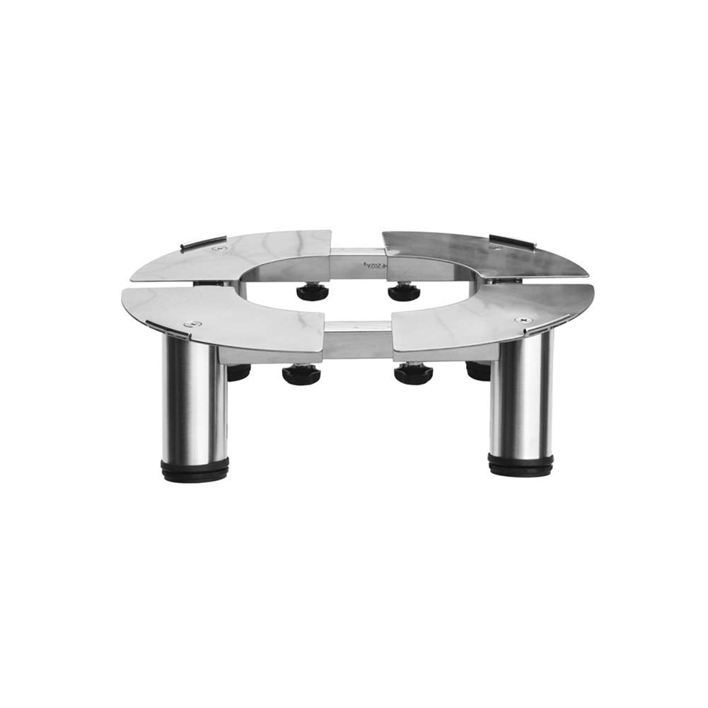 Increased Shelf AI Universal Appliance Base Air Conditioning Base Stainless Steel Cylindrical Adjustable (Color : Gray-1)