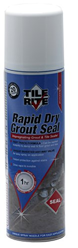 TILE RITE RDA042 Rapid Dry Grout Seal Aerosol Impregnating Grout and Stone...