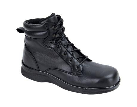 Apex Men's Ambulator Biomechanical 6 Inch Lace-Up Work Boot Black Leather 9 M