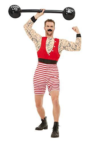Smiffys 50807M Deluxe Strongman Costume, Men, Red &