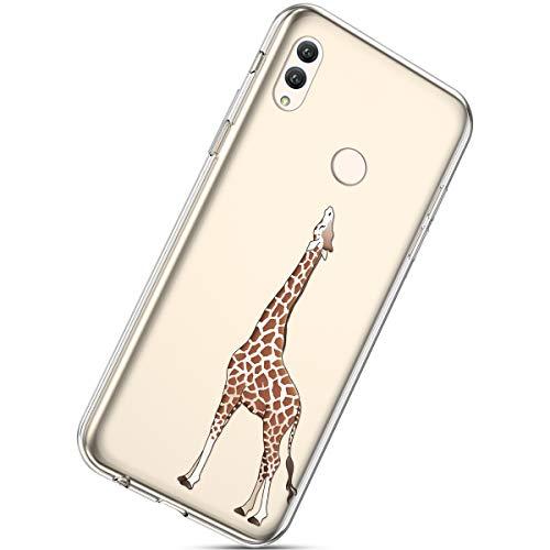 Ultra Protection Girafe Mode Créatif Rose Bumper fleur Housse Avec De Pour 10 Coloré Etui Huawei Doux Honor Note Herbests Cerisier Motif Caoutchouc Coquille Tpu Coque mince OPq4XX