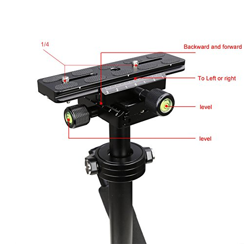Koolertron S40 Handheld Stabilizer Steadicam Pro Version for Camera Video DV DSLR Nikon Canon, Sony, Panasonic with Quick Release Plate