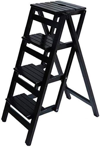 Taburete Escalera Paso Escaleras Escalera Plegable heces heces heces Biblioteca Pasos Multifuncional estantería Escalera Silla de la Escala Oficina Cocina HUXIUPING (Color : D): Amazon.es: Hogar