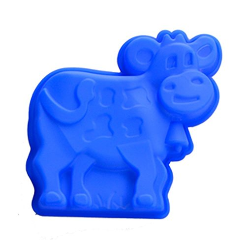 Allforhome(TM) Silicone Cow Baking Pan Cake Molds Cake Baking Mould Cake Pan Muffin Cups Ice Cube Tray DIY Mould