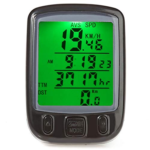 Jinxuny Bike Cycling Computer, Bicycle Computer Waterproof Cycling Odometer Speedometer with LCD Backlight Bike Computer Cycling Accessories