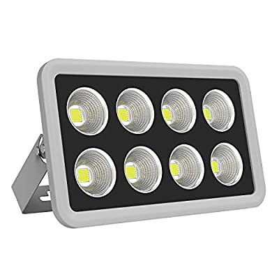 Morsen LED Flood Light IP65 Waterproof High Power Indoor Outdoor 6000K Daylight Spotlight LED Area Security Wall Light, Commercial Lighting for Parking Lot, Garden Playground