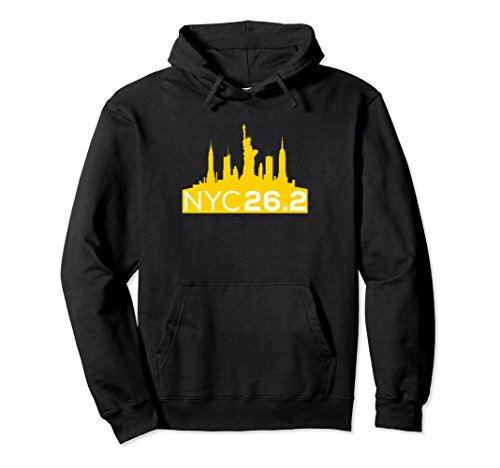 Unisex NYC 26.2 Marathon Shirt for Marathoners - Hoodie GOLD Small ()