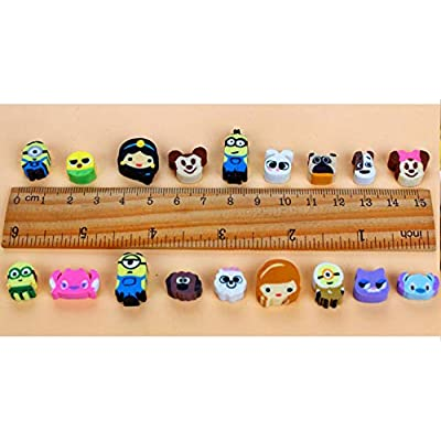 100 Pcs Animal Erasers Bulk Kids Pencil Erasers,Mini Novelty Erasers,Puzzle Eraser Toys for School Supplies,Classroom Rewards,Party Favors Games Prizes Carnivals (Random Designs): Toys & Games