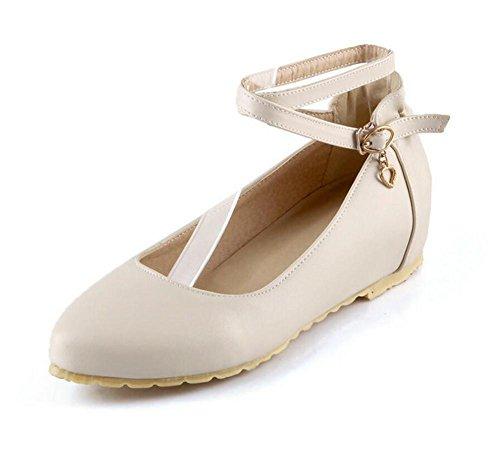 LDMB Chaussures peu profondes filles de la bouche de filles pointue pointe faible pour aider les chaussures , beige , 36