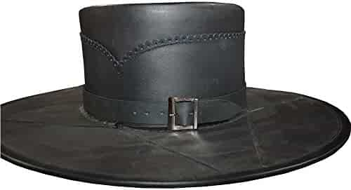 be42be5a159de9 Nasir Ali ARMOUR COSTUME HEAD N HOME BLACK LEATHER HAND CRAFTED STYLE PURE  LEATHER HAT