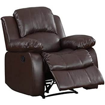 Homelegance Upholstered Recliner Chair Warm Brown Bonded  sc 1 st  Amazon.com & Amazon.com: Homelegance Upholstered Recliner Chair Warm Brown ... islam-shia.org