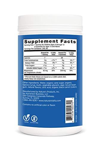 Natural Vitality Calm, Magnesium Dietary Supplement - The Anti-Stress Gummies, Raspberry- Lemon - 240 Gummies