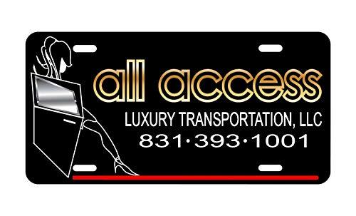 (Dozili All Access Luxury Transportation License Plate tag auto Metal)