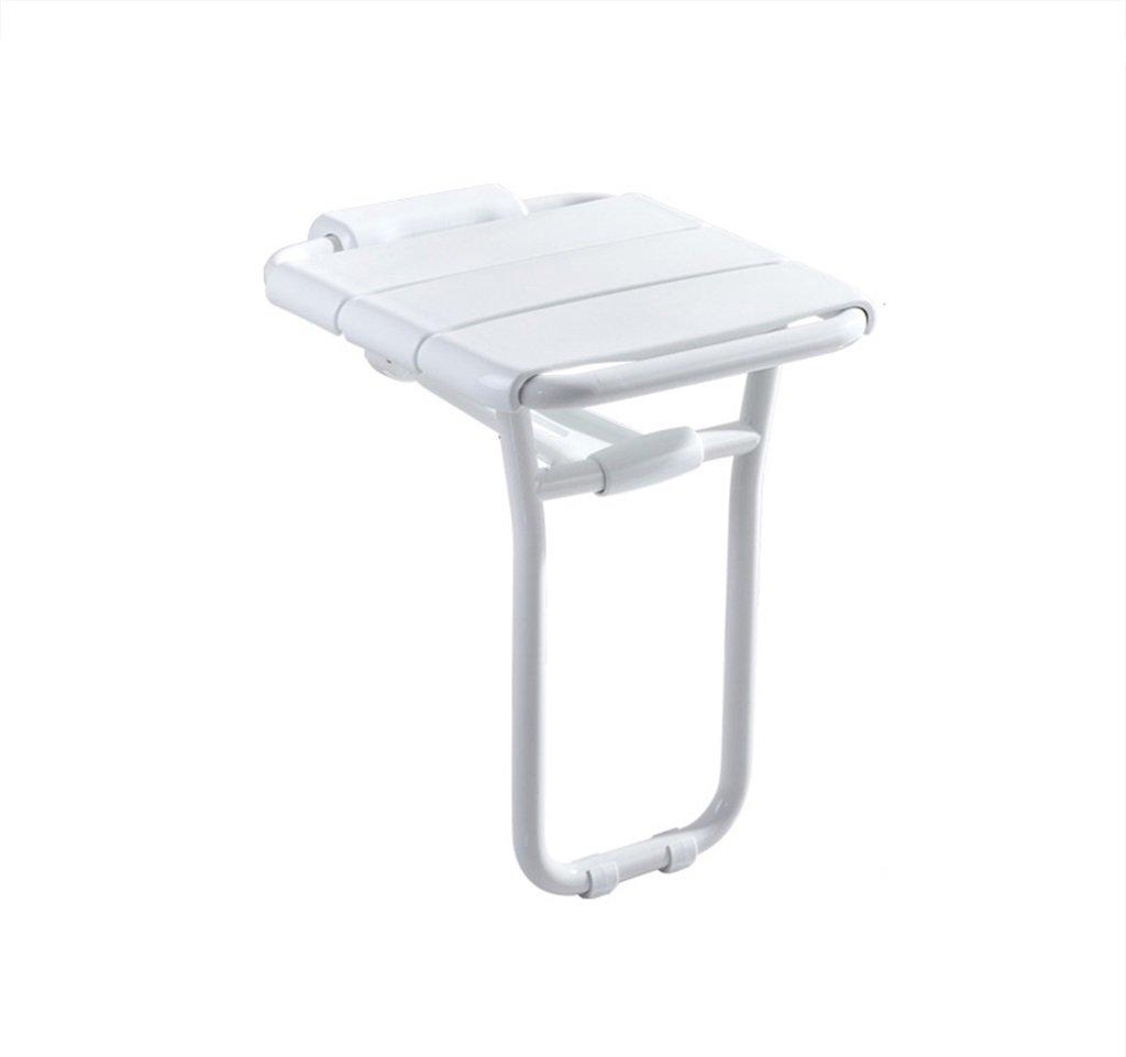 折りたたみ式の壁のシャワーのスツールウォールマウントされたシャワーシートのスツールバリア/バスのためのスツール高齢者のためのスツール適切な保存スペース B07FHM1YBD