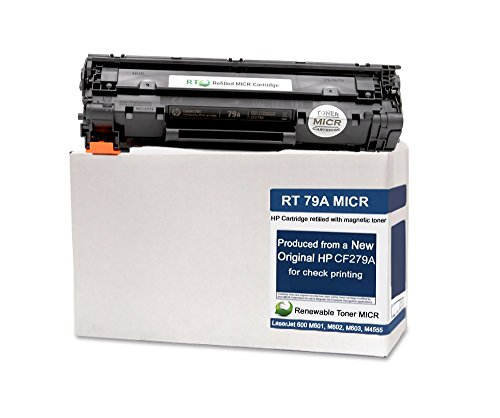 Renewable Toner 79A Modified MICR Cartridge Replacement CF279A for HP LaserJet PRO M12 MFP M26; 500 Page Starter Yield