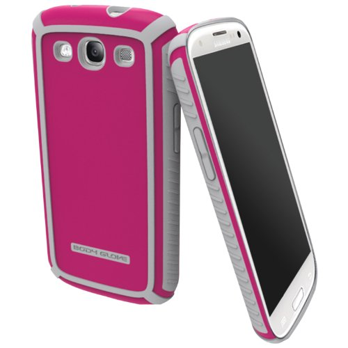 Body Glove 9345001 Tactic Brushed Case for Samsung Galaxy S III - 1 Pack - Retail Packaging - Raspberry/Silver
