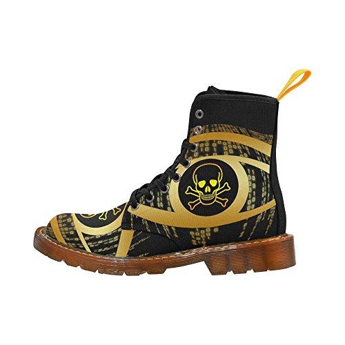 LEINTEREST skull Martin Boots Fashion Shoes For Women