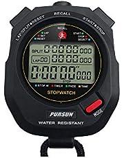 Cronómetro profesional, cronómetro deportivo digital con temporizador de cuenta regresiva, memoria de 100 vueltas, 0.001 segundos de tiempo, resistente al agua, cronómetro multifuncional para natación, correr, entrenamiento, etc
