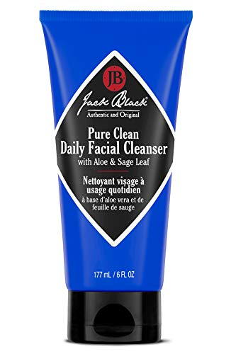 Jack Black - Pure Clean Daily Facial Cleanser, 3, 6, and 16 fl oz - 2-in-1 Facial Cleanser and Toner, Removes Dirt and Oil, PureScience Formula, Certified Organic Ingredients, Aloe and Sage Leaf