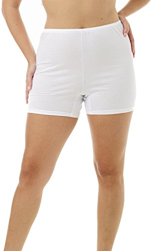 Underworks Womens 100% Cotton Cuff Leg 5-inch Inseam Bloo...