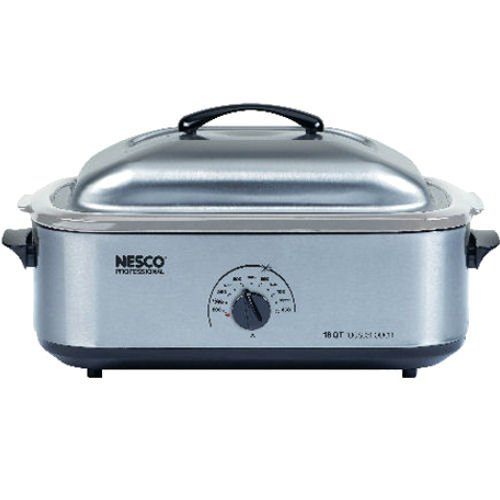Stainless Steel Roaster Oven - Nesco 4818-25-20, 18-Quart Stainless Steel Roaster Oven