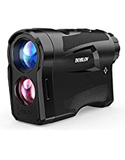 BOBLOV Rangefinder, Golf Rangefinder, 650Yards Golf Distance Finder,Support Vibration On/Off Switch,USB Charging, Accurately and Fast Locking for Golfing or Hunting, with Speed Measurement