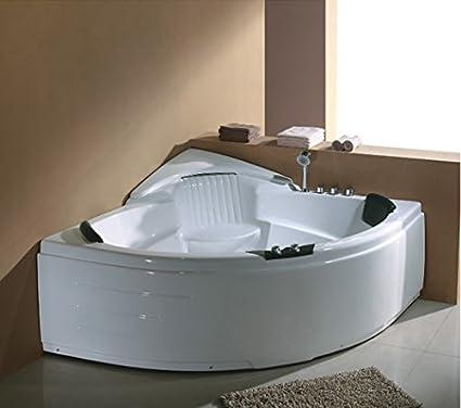 Esquina jetted bañera, Whirlpool y burbuja de aire y masaje, calentador. M3015