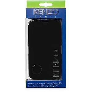 Kenzo KE250272 - Carcasa folio de cuero con diseño Glossy para Samsung Galaxy S4 GT-i9500, negro