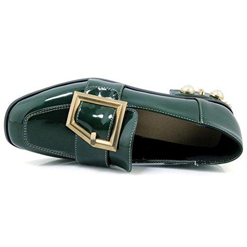 TAOFFEN Women's Spring Slip On Court Shoes Green RPmnivaKVH