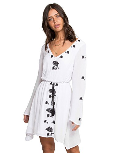 Wet Seal Amberly Embroidered Dress White X-Large (Smock Embroidered Dress)