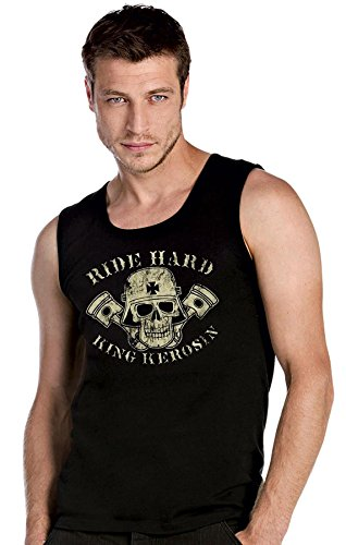 King Kerosin Ride Hard schwarze Top Tank T-Shirt -2421