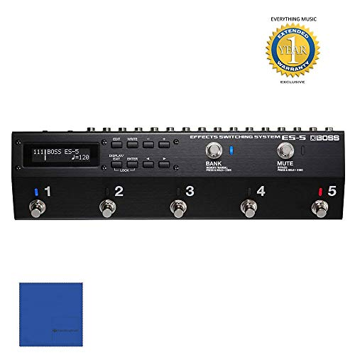 Boss ES-5 Effects Switching System with 1 Year Free Extended Warranty and Microfiber